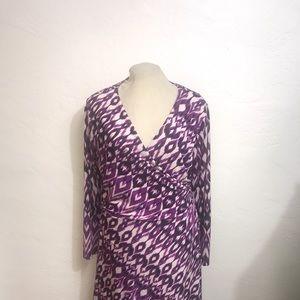 3X Silk Feel Polyester Stretch Dress